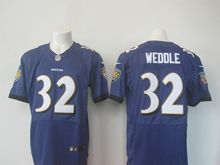 Mens Nfl Baltimore Ravens #32 Eric Weddle Purple Elite Jersey