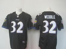 Mens Nfl Baltimore Ravens #32 Eric Weddle Black Elite Jersey