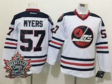 Mens Reebok Winnipeg Jets #57 Tyler Myers White 2016 Winter Classic Jersey