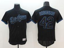 mens majestic los angeles dodgers #42 ackie robinson navy blue Flex Base jersey