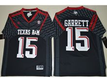 Mens Ncaa Nfl Texas A&m Aggies #15 Myles Garrett Black Authentic Jerseys