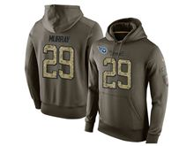 mens nfl tennessee titans #29 demarco murray green olive salute to service Hoodie