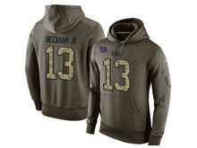 mens nfl new york giants #13 odell beckham jr. green olive salute to service Hoodie