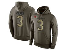 mens nfl arizona cardinals #3 carson palmer green olive salute to service Hoodie