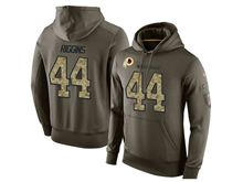 mens nfl washington redskins #44 john riggins green olive salute to service Hoodie