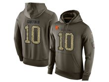 mens nfl cleveland browns #10 robert griffin iii green olive salute to service Hoodie