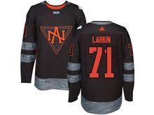 Mens Team North America #71 Dylan Larkin Black 2016 World Cup Hockey Jersey