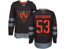 Mens Team North America #53 Shayne Gostisbehere Black 2016 World Cup Hockey Jersey
