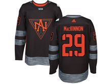 Mens Team North America #29 Nathan Mackinnon Black 2016 World Cup Hockey Jersey