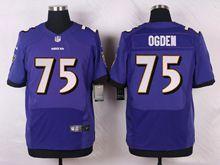 Mens Nfl   Baltimore Ravens #75 Jonathan Ogden Purple Elite Jersey