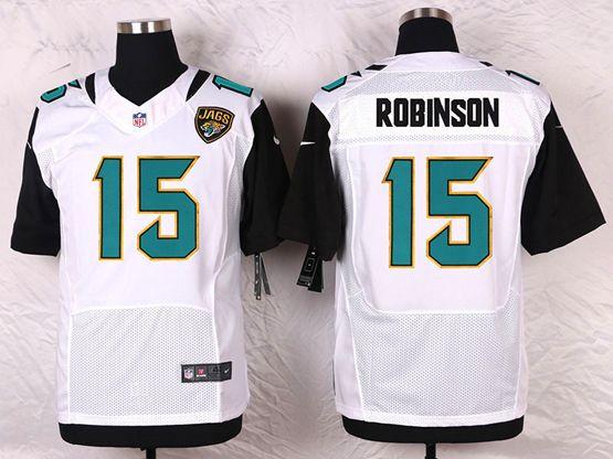 Mens Nike Jacksonville Jaguars #15 Allen Robinson White Elite Jersey