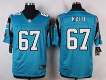 Mens Nfl   Carolina Panthers #67 Ryan Kalil Blue Elite Jersey