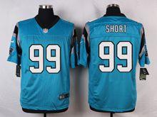 Mens Nfl   Carolina Panthers #99 Kawann Short Blue Elite Jersey