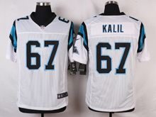 Mens Nfl   Carolina Panthers #67 Ryan Kalil White Elite Jersey
