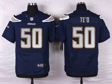 Mens Nfl   San Diego Chargers #50 Manti Te'o Navy Blue Elite Jersey