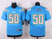 Mens Nfl   San Diego Chargers #50 Manti Te'o Light Blue Elite Alternate Jersey