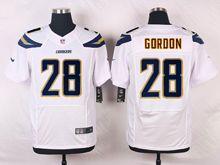 Mens Nfl   San Diego Chargers #28 Melvin Gordon White Elite Jersey