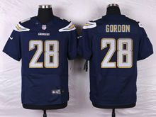 Mens Nfl   San Diego Chargers #28 Melvin Gordon Navy Blue Elite Jersey