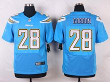 Mens Nfl   San Diego Chargers #28 Melvin Gordon Light Blue Elite Alternate Jersey