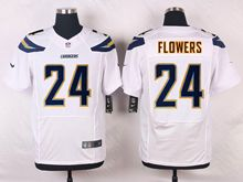 Mens Nfl   San Diego Chargers #24 Brandon Flowers White Elite Jersey