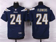 Mens Nfl   San Diego Chargers #24 Brandon Flowers Navy Blue Elite Jersey