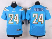 Mens Nfl   San Diego Chargers #24 Brandon Flowers Light Blue Elite Alternate Jersey