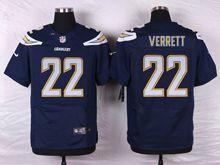 Mens Nfl   San Diego Chargers #22 Jason Verrett Navy Blue Elite Jersey
