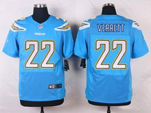 Mens Nfl   San Diego Chargers #22 Jason Verrett Light Blue Elite Alternate Jersey