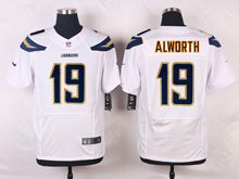 Mens Nfl   San Diego Chargers #19 Lance Alworth White Elite Jersey