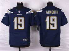 Mens Nfl   San Diego Chargers #19 Lance Alworth Navy Blue Elite Jersey