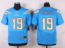 Mens Nfl   San Diego Chargers #19 Lance Alworth Light Blue Elite Alternate Jersey