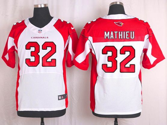 Mens Nfl Arizona Cardinals #32 Tyrann Mathieu White Elite Jersey