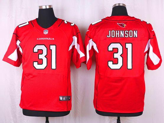 Mens Nfl Arizona Cardinals #31 David Johnson Red Elite Jersey