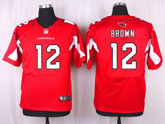 Mens Nfl Arizona Cardinals #12 John Brown Red Elite Jersey