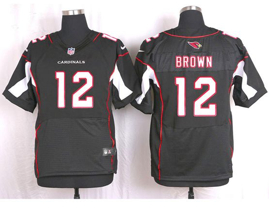 Mens Nfl Arizona Cardinals #12 Brown Black Elite Jersey