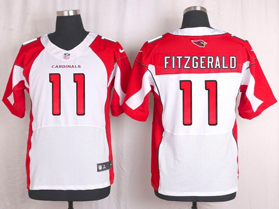 Mens Nfl Arizona Cardinals #11 Larry Fitzgerald White Elite Jersey