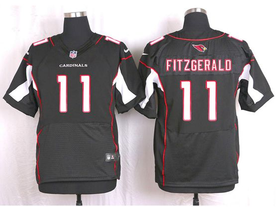 Mens Nfl Arizona Cardinals #11 Larry Fitzgerald Black Elite Jersey
