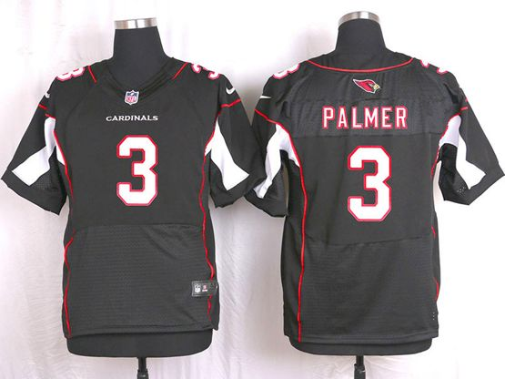 Mens Nfl Arizona Cardinals #3 Carson Palmer Black Elite Jersey