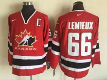 Mens Nhl Team Canada #66 Mario Lemieux Red (2002 Olympics) Throwback Jersey
