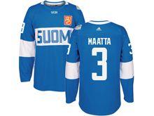 Mens Nhl Team Finland #3 Olli Maatta Blue 2016 World Cup Hockey Jersey