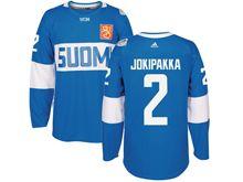 Mens Nhl Team Finland #2 Jyrki Jokipakka Blue 2016 World Cup Hockey Jersey