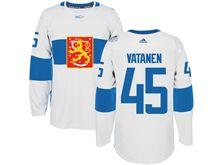 Mens Nhl Team Finland #45 Sami Vatanen White 2016 World Cup Hockey Jersey