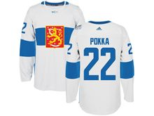 Mens Nhl Team Finland #22 Ville Pokka White 2016 World Cup Hockey Jersey