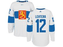 Mens Nhl Team Finland #12 Jori Lehtera White 2016 World Cup Hockey Jersey