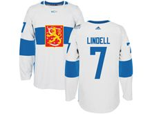 Mens Nhl Team Finland #7 Esa Lindell White 2016 World Cup Hockey Jersey