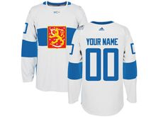 Mens Nhl Team Finland Custon White 2016 World Cup Hockey Jersey