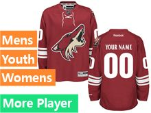 Mens Women Youth Reebok Arizona Coyotes Red Home Premier Jersey
