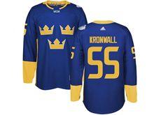 Mens Nhl Team Sweden #55 Niklas Kronwall Blue 2016 World Cup Hockey Jersey