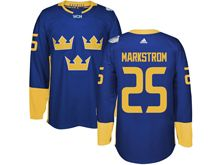 Mens Nhl Team Sweden #25 Jacob Markstrom Blue 2016 World Cup Hockey Jersey