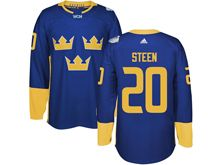 Mens Nhl Team Sweden #20 Alexander Steen Blue 2016 World Cup Hockey Jersey
